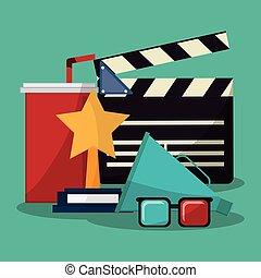 collection cinema movie glasses award soda speaker