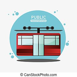 cable railway public transport vector illustration eps 10