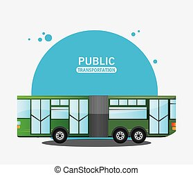bus city vehicle public transport vector illustration eps 10