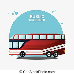 public transport vehicle travel vector illustration eps 10