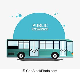 public transport bus modern vector illustration eps 10