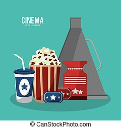 cinema movie style icons vector illustration eps 10