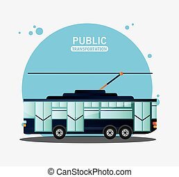 tram urban public transport vector illustration eps 10