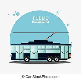 tram urban public transport vector illustration eps 10