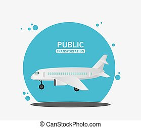 air craft fly public transport vector illustration eps 10