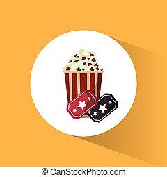 cinema pop corn tickets movie