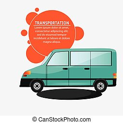 green van vehicle transport