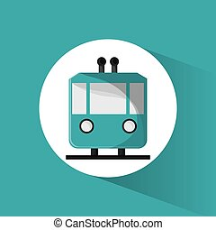 funicular cable car passeger transport vector illustration...