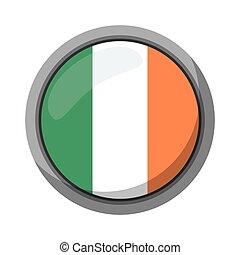 st patricks day irish flag emblem vector illustration eps 10