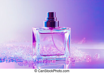 perfume bottle with crystals - perfume bottle with white...