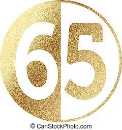 golden-65-w.eps - number 65