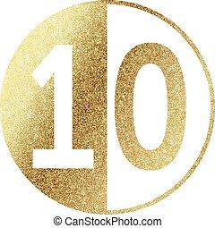 golden-10 - number 10