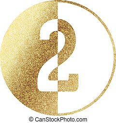 golden number 2 - number 2