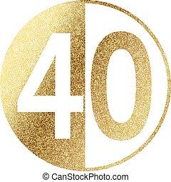golden-40-w.eps - number 40