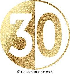 golden-30-w.eps - number 30