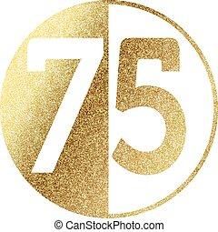 golden-75-w.eps - number 75