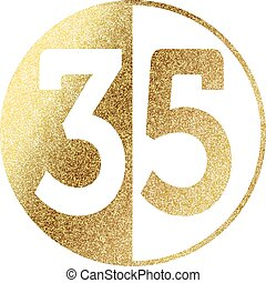 golden-35 - number 35
