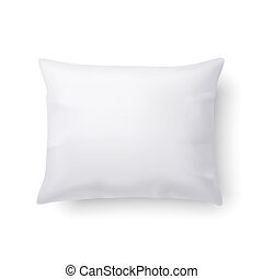Pillow - Close Up of a Classic Pillow Isolated on White...