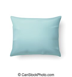 Pillow - Close Up of a Classic Aquamarine Pillow Isolated on...