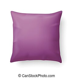 Pillow - Close Up of a Magenta Pillow Isolated on White...