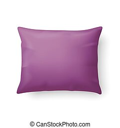 Pillow - Close Up of a Classic Magenta Pillow Isolated on...