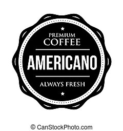 Coffee Americano vintage stamp vector