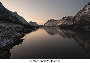 Fjord - a Sunset in a Fjord
