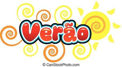 Verão - verão escrito em portugues