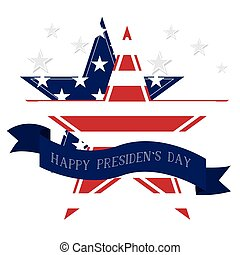 President day illustration - Isolated president day sticker...