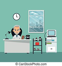 doctor office professional practitioner vector illustration...