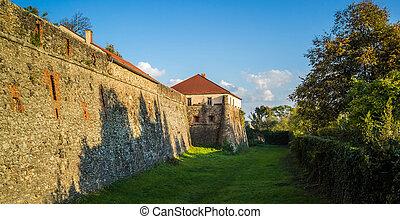 Beautiful old castle in Uzhgorod. - Beautiful old castle in...