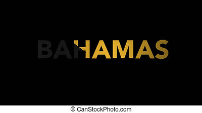 Zooming text Bahamas with flag