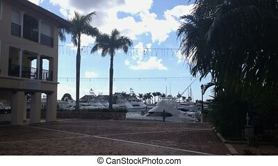 Yachts in marina - Luxury yachts in marina at summer