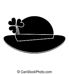 st patricks day leprechaun hat clover pictogram