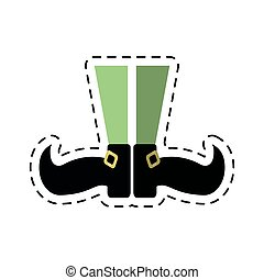 cartoon st patricks day leprechaun legs