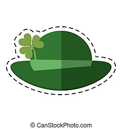 cartoon st patricks day leprechaun hat clover