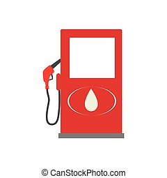 color silhouette with fuel pump vector illustration