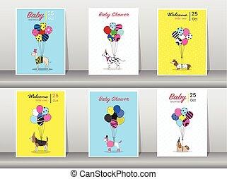 Set of baby shower cards,vintage...