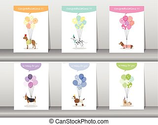 Set of congratulation cards,poster,template,greeting...