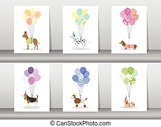 Design of cute animal cards,poster,template,greeting...