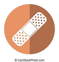 medical plaster bandage adhesive shadow