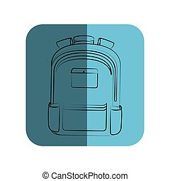 sketch of school briefcase in square