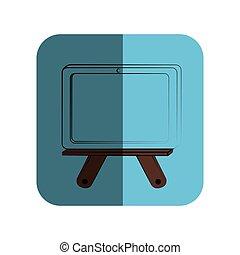 sketch of school slate in square frame