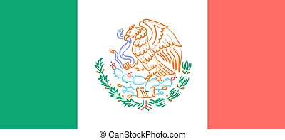 flag with the emblem of Mexico