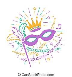 icon Mardi Gras Mask