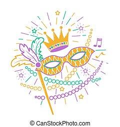 Mardi Gras Mask icon.