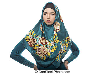 Female Wearing Hijab Confident and Strong - Female wearing a...