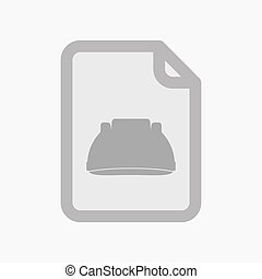 Isolated document with a work helmet