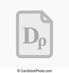 Isolated document with a drachma currency sign -...