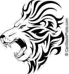 Lion tribal tattoo design - Lion tattoo design. Head tattoo...